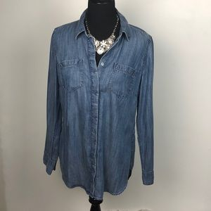 Talbots Chambray Button Down Size Med EUC